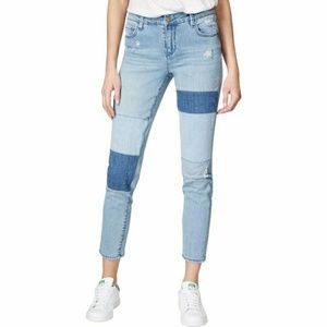Rachel roy patchwork blue combo wash skinny jeans